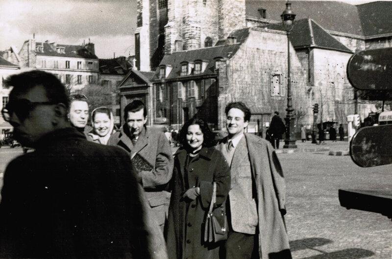 Fernando Pereda, Isabel Gilbert, José Bergamín, Amanda y José Pedro Díaz