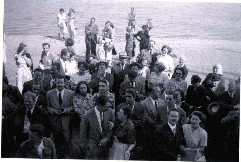 Despedida del Andrea C. en el puerto de Montevideo.