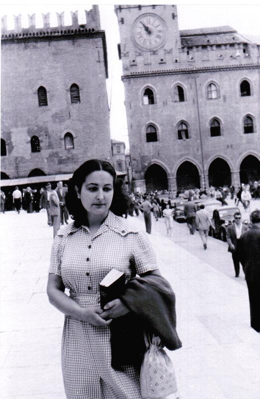 Amanda Berenguer en la Plaza de San Marcos. (Venecia)