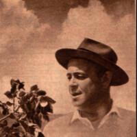 [Julio C. da Rosa junto a un árbol de yerba mate]