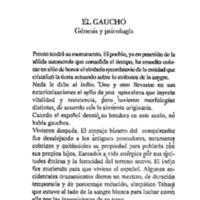 El Gaucho : génesis y psicología